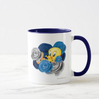 Tweety con los rosas taza