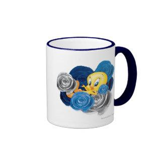 Tweety con los rosas tazas de café