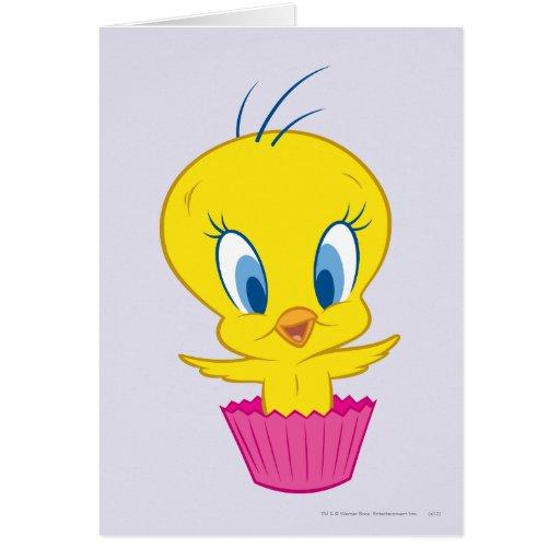 Tweety Cupcake Greeting Card