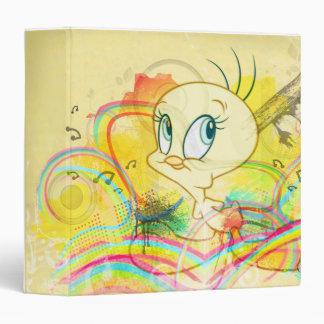 "Tweety en arco iris carpeta 1 1/2"""