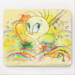 Tweety en arco iris mouse pad