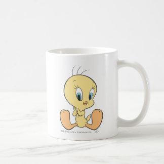 Tweety en la actitud 7 de las nubes tazas de café