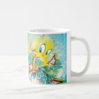 Tweety en onda azul tazas de café