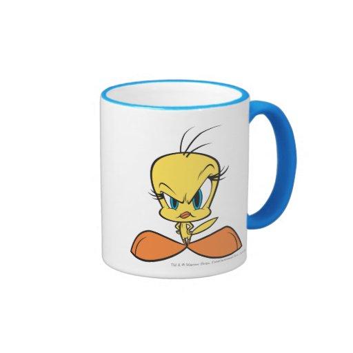 Tweety enojado tazas