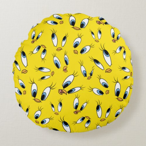 TWEETY™ Face Pattern Round Pillow