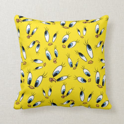 TWEETY™ Face Pattern Throw Pillow