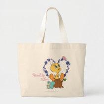 "Tweety ""Friendship And Love"" Large Tote Bag"