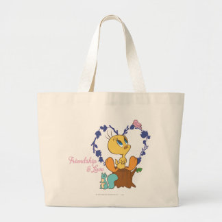 "Tweety ""Friendship And Love"" Large Tote Bag"