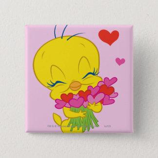 Tweety Hearts Button