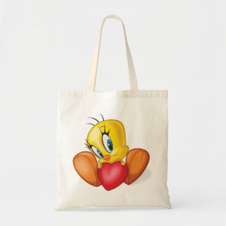 Tweety Holding Heart Tote Bags