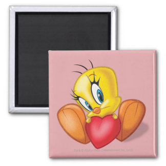 Tweety Holding Heart Refrigerator Magnet