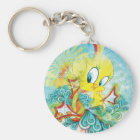 Tweety In Blue Wave Keychain