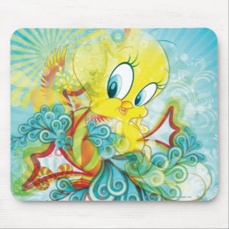 Tweety In Blue Wave Mouse Pad