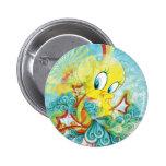 Tweety In Blue Wave Pinback Button