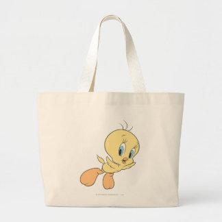 Tweety In The Clouds Pose 15 Large Tote Bag
