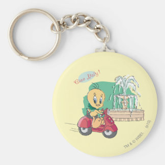 Tweety Italy Basic Round Button Keychain