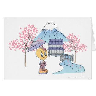 Tweety Japón Tarjeta De Felicitación