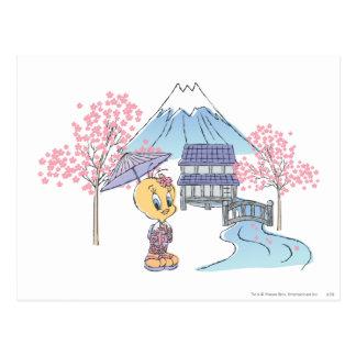 Tweety Japón Tarjeta Postal
