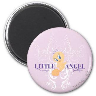 """Tweety """"Little Angel"""" 2 Inch Round Magnet"""