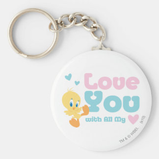 "Tweety ""Love You With All My Heart"" Keychain"