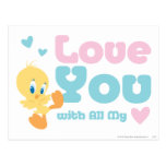 """Tweety """"Love You With All My Heart"""" Post Cards"""