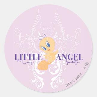 "Tweety ""poco ángel "" etiquetas redondas"
