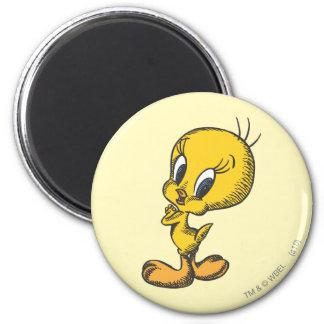 Tweety precioso imán redondo 5 cm