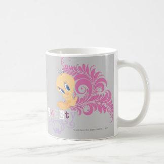 Tweety que sienta 2 taza de café