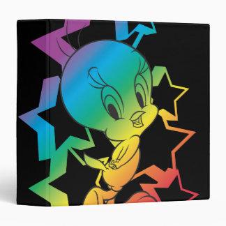 Tweety Rainbow Stars 3 Ring Binder