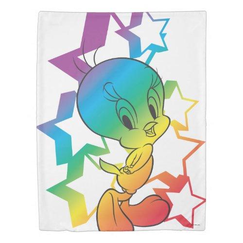 Tweety Rainbow Stars Duvet Cover