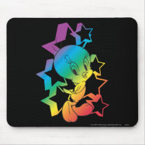Tweety Rainbow Stars Mouse Pad