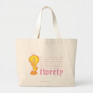 """Tweety """"soy un pequeño pájaro dulce """" bolsa tela grande"""