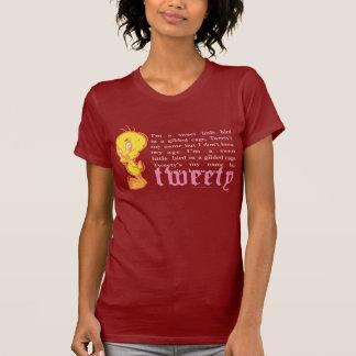 """Tweety """"soy un pequeño pájaro dulce """" camisetas"""