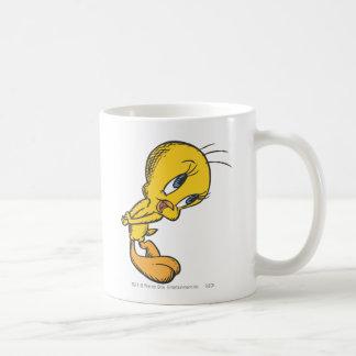 Tweety tímido taza de café