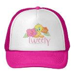 Tweety Tropical Flowers Trucker Hat