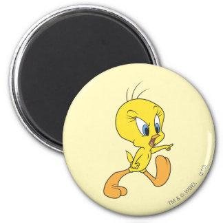 Tweety Upset 2 Inch Round Magnet