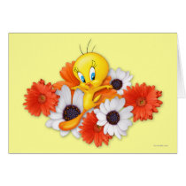 Tweety With Daisies Card