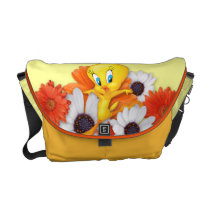 Tweety With Daisies Courier Bag