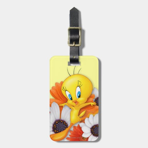 Tweety With Daisies Luggage Tag