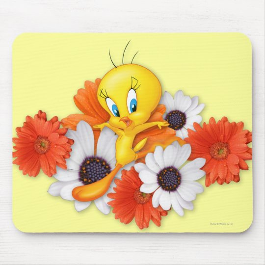 Tweety With Daisies Mouse Pad
