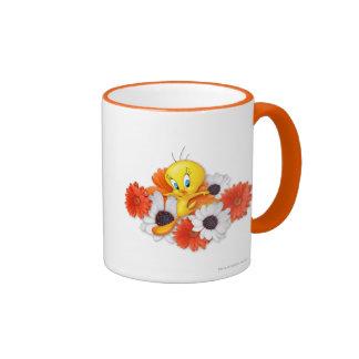 Tweety With Daisies Ringer Mug