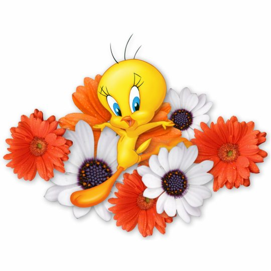 Tweety With Daisies Statuette