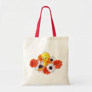 Tweety With Daisies Tote Bag