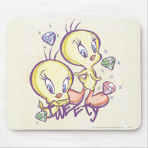Tweety with Gems Mouse Pad