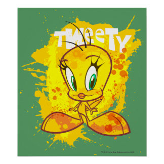 Tweety with Name Poster