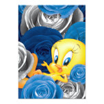 Tweety With Roses 5x7 Paper Invitation Card
