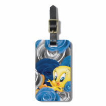 Tweety With Roses Luggage Tag