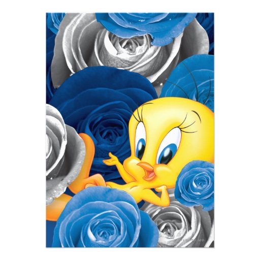 Tweety With Roses Personalized Announcement