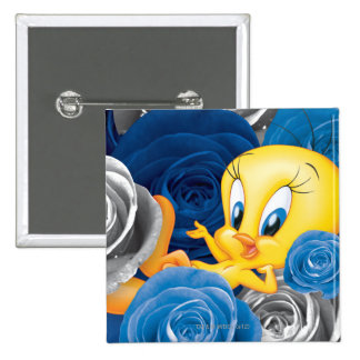 Tweety With Roses Pinback Button