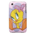 Tweety y mariposa iPhone 3 cárcasa